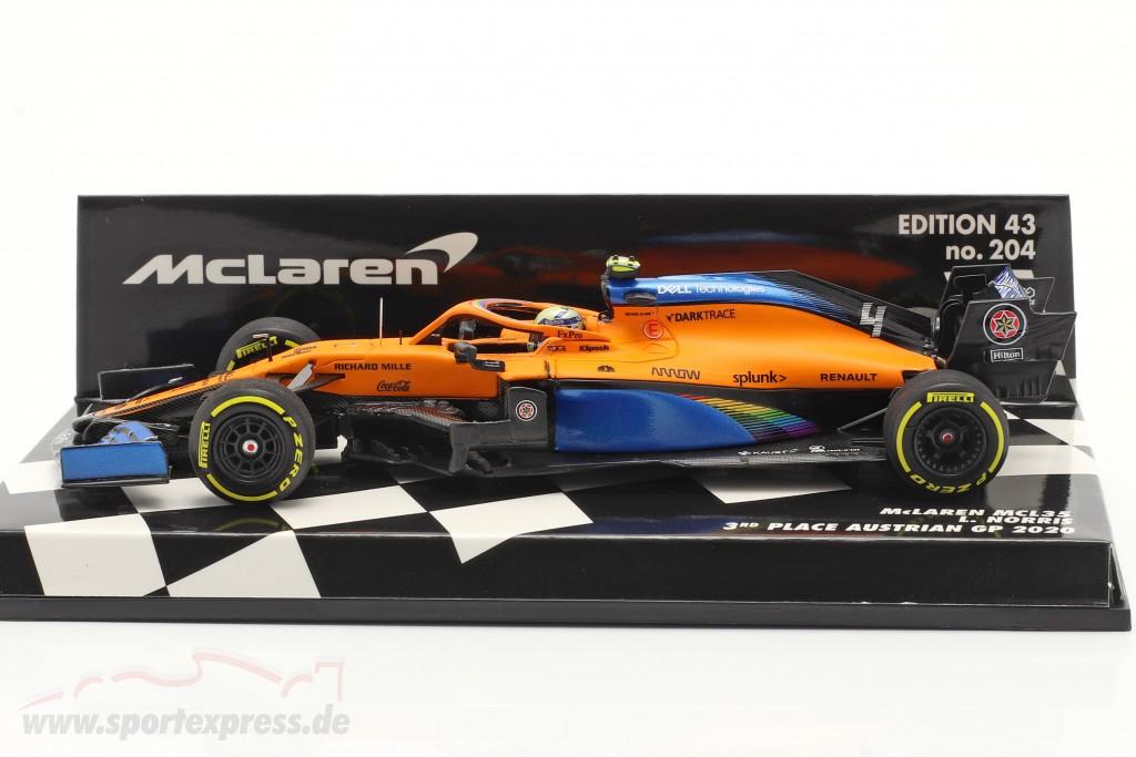 L. Norris McLaren MCL35 #4 3rd Austrian GP formula 1 2020