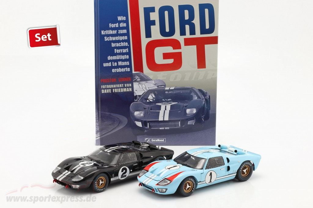 24h LeMans 1966 Collector's Set: Book with Ford GT40 #1 #2