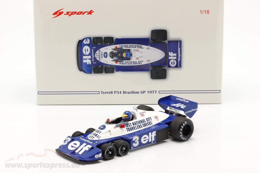Ronnie Peterson Tyrrell P34 six wheels #3 Brazilian GP formula 1 1977