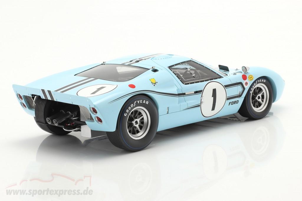 Ford GT40 MK2B #1 Winner 12h Reims 1967 Ligier, Schlesser