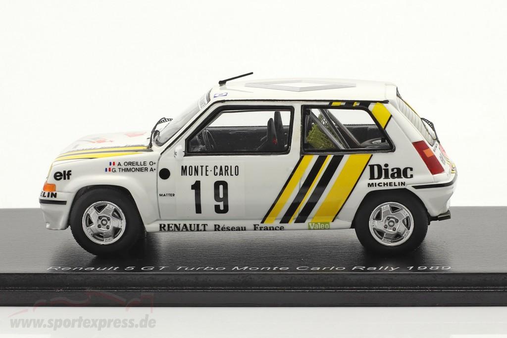 Renault 5 GT Turbo #19 Rallye Monte Carlo 1989 Oreille, Thimonier