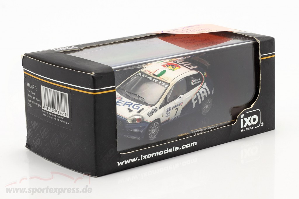 Fiat Punto S2000 #7 rally Mille Miglia 2006 Andreucci, Andreussi   / 2nd choice