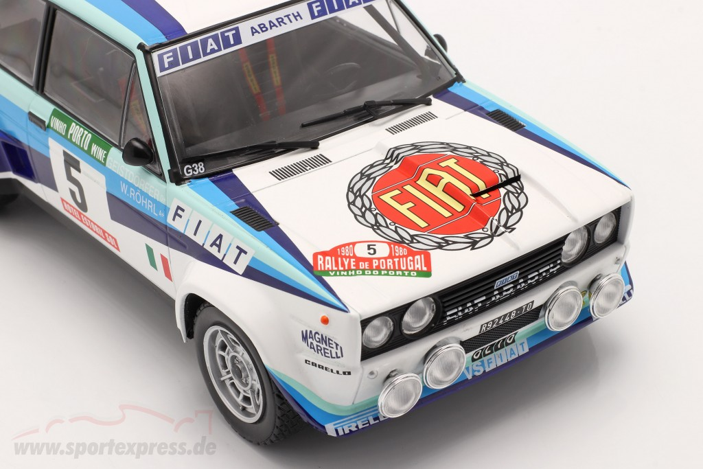 Fiat 131 Abarth #5 World Champion Rally Portugal 1980 Röhrl, Geistdörfer
