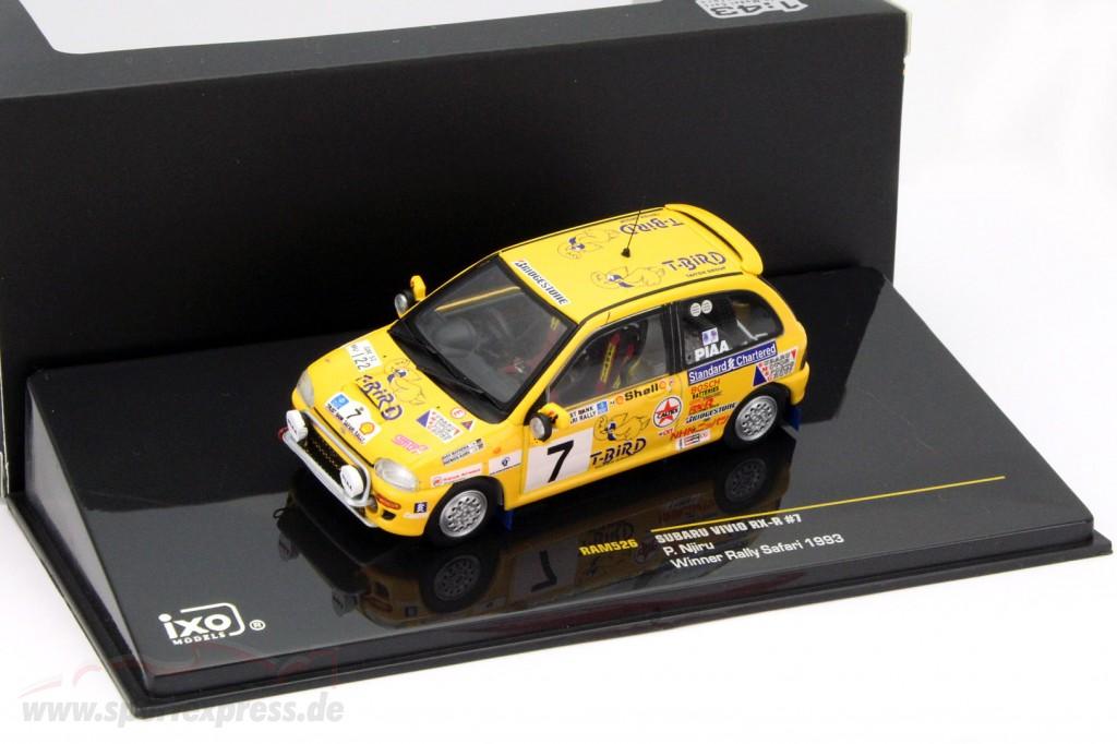 Subaru Vivio RX-R #7 winner rally Safari 1993 Njiru   / 2nd choice