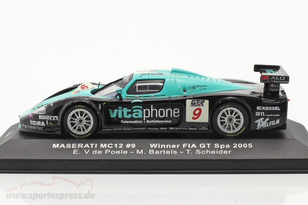 Maserati MC12 #9 winner FIA GT Spa 2005 V de Poele, Bartels, Schneider