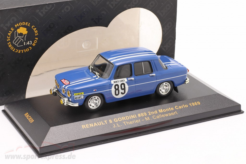 Renault 8 Gordini #89 rally Monte Carlo 1969 Therier, Callewaert   / 2nd choice