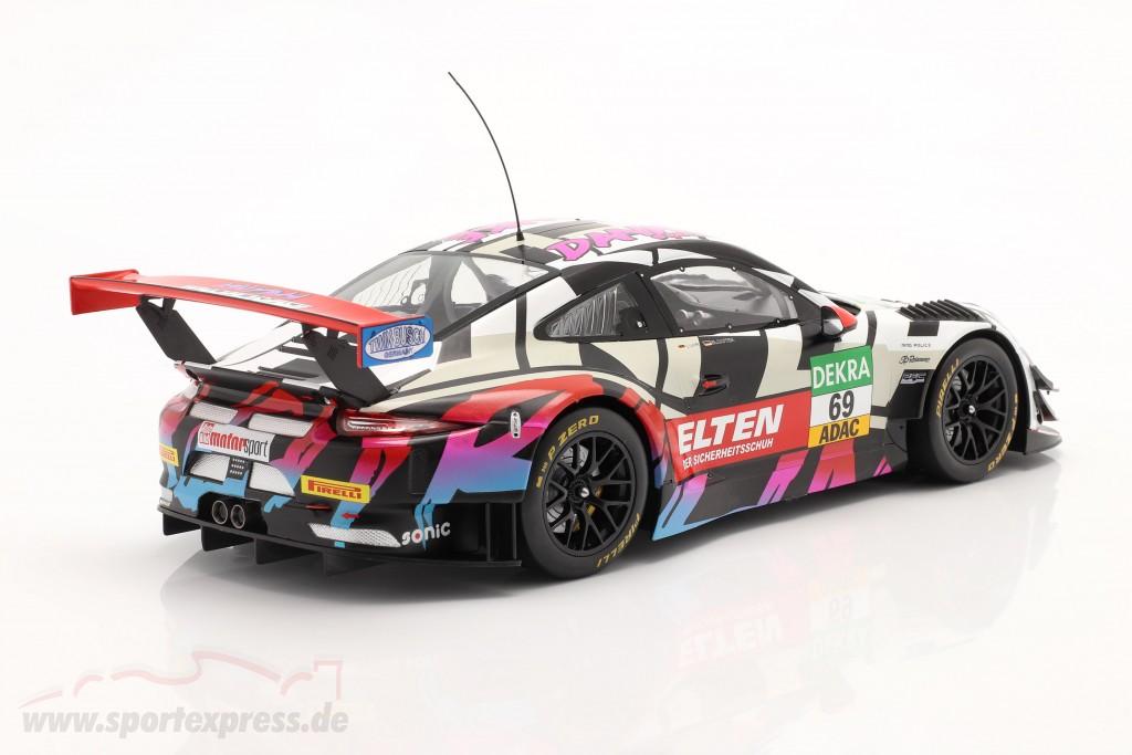 Iron Force Fan-Set: 2x Porsche 911 (991) GT3 R #69 with book