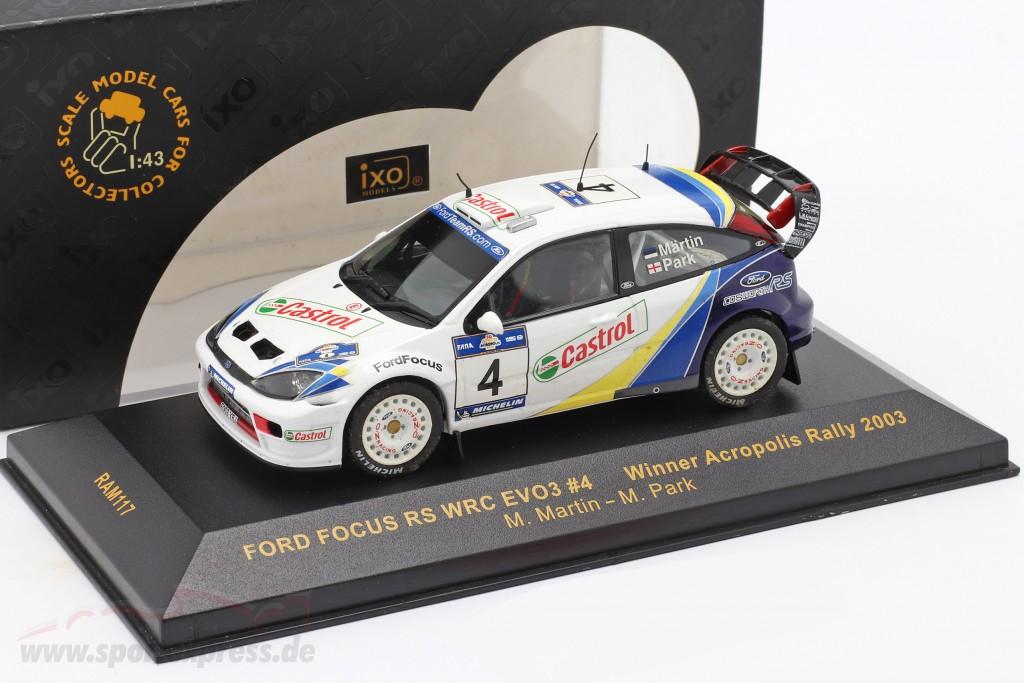 Ford Focus RS WRC EVO3 #4 winner Acropolis rally 2003 Martin, Park   / 2nd choice