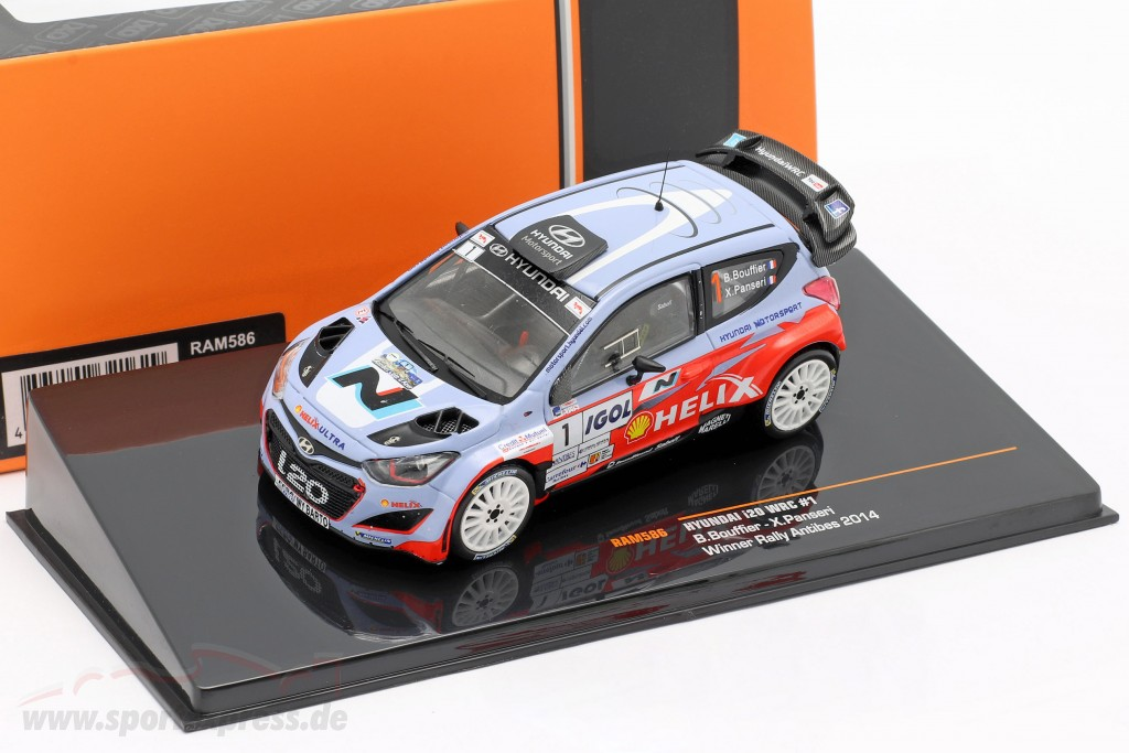 Hyundai i20 WRC #1 Winner rally Antibes 2014 Bouffier, Panseri   / 2nd choice