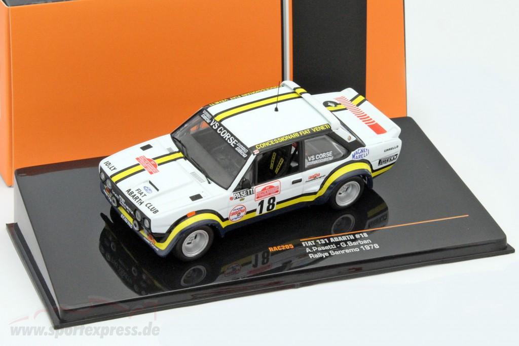 Fiat 131 Abarth #18 rally San Remo 1978 Pasetti, Barban   / 2nd choice