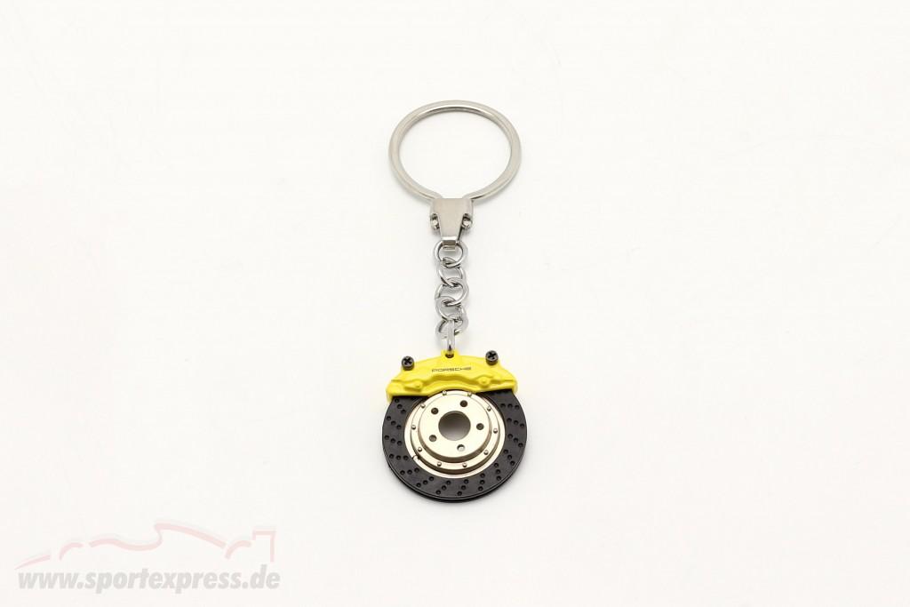 Porsche Schlüsselanhänger Bremsscheibe gelb