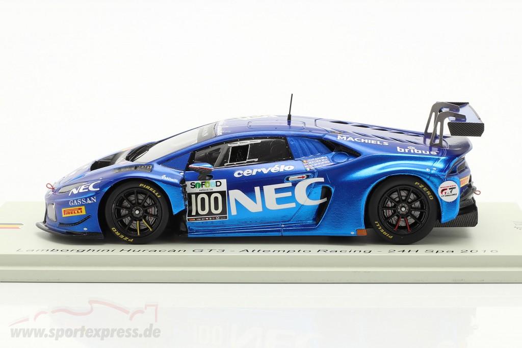 Lamborghini Huracan GT3 #100 24h Spa 2016 Attempto Racing