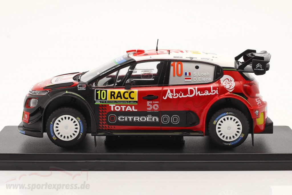 Citroen C3 WRC #10 Sieger Rallye Catalunya 2018 Loeb, Elena